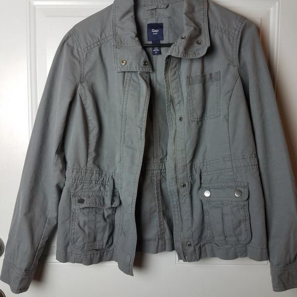 4750d809ae4b6 GAP Jackets & Coats | Womens Grey Utility Jacket Size Xs | Poshmark